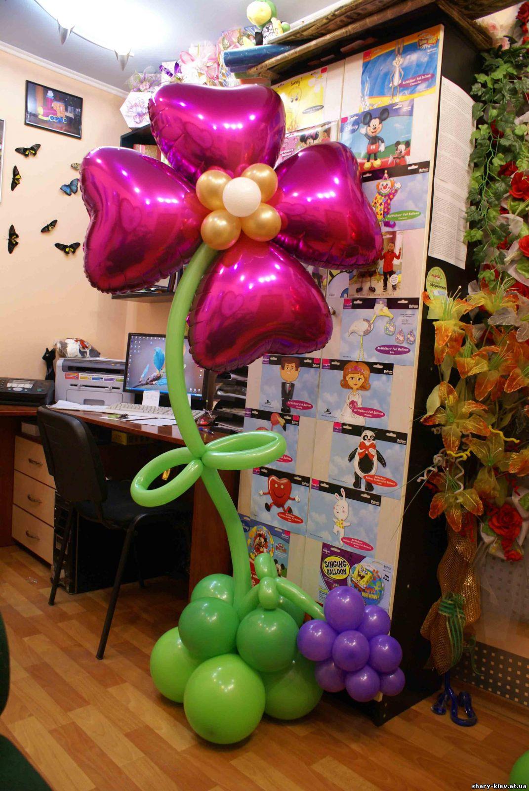 Как сделать стойку для цветов из шаров